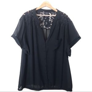 Torrid Pleated Chiffon Blouse